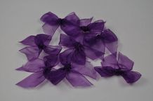 25 DEEP LILAC VIOLET (35mm) Organza Ribbon Bow